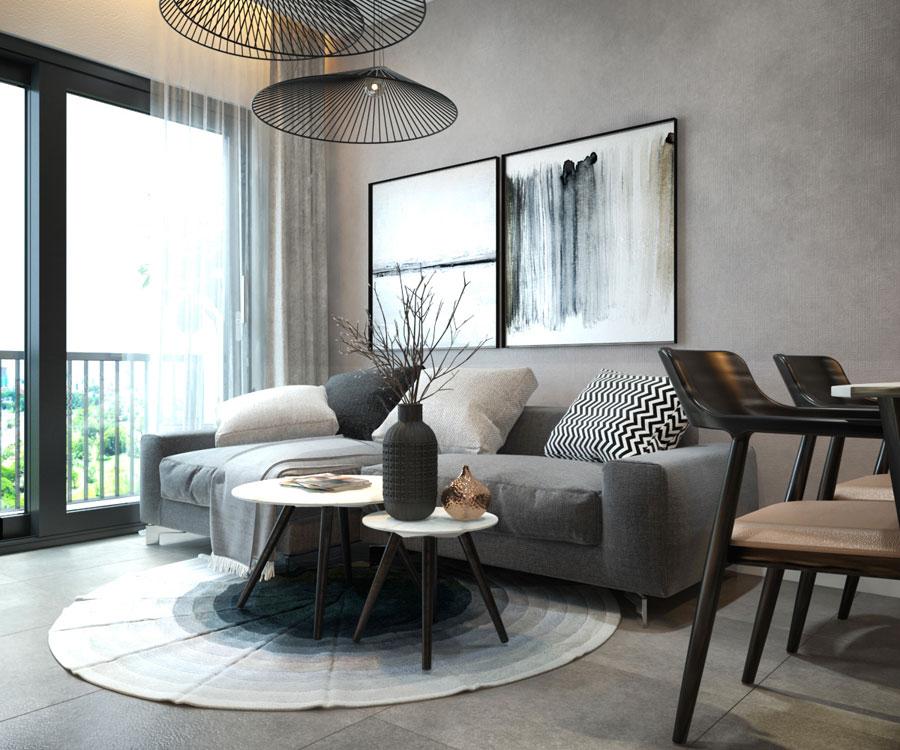 thiết kế nội thất chung cư 45 mét vuông ảnh 7