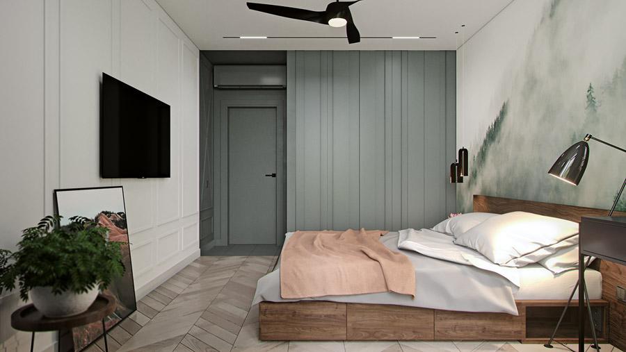 thiết kế nội thất chung cư 55 m2 hiện đại ảnh 1