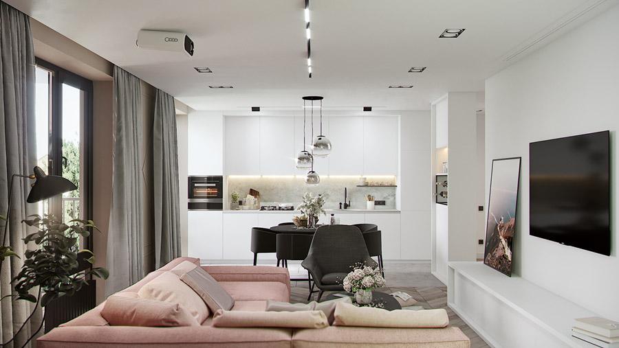 thiết kế nội thất chung cư 55 m2 hiện đại ảnh 13