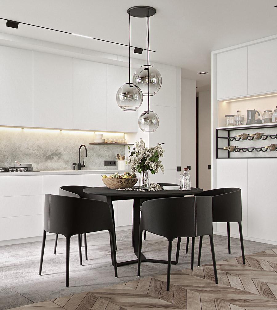 thiết kế nội thất chung cư 55 m2 hiện đại ảnh 3