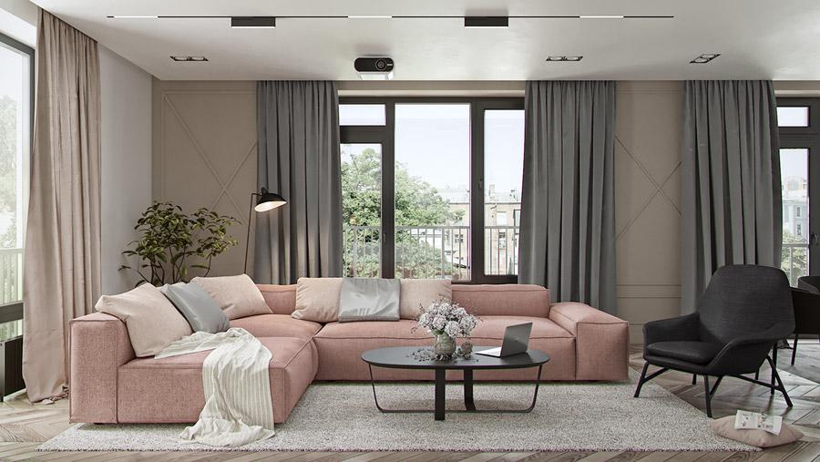Thiết kế nội thất chung cư 55 m2 đẹp hiện đại