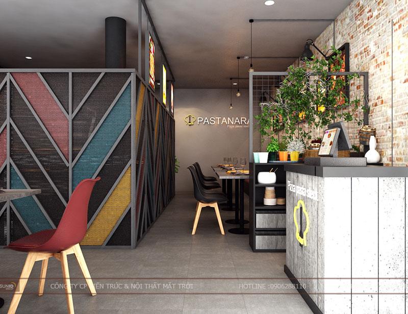 thiết kế thi công nội thất quán pizza pastana ảnh 1