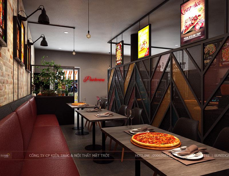 thiết kế thi công nội thất quán pizza pastana ảnh 2
