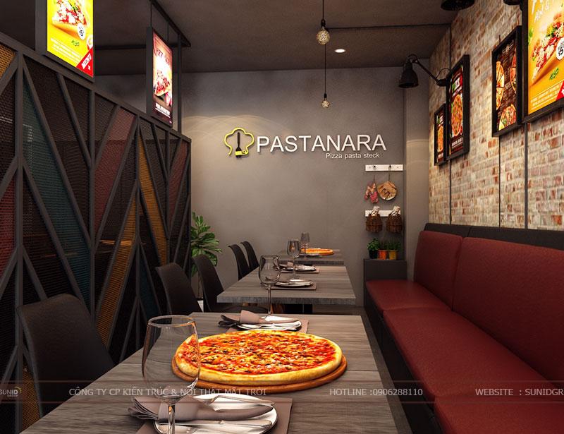 thiết kế thi công nội thất quán pizza pastana ảnh 4