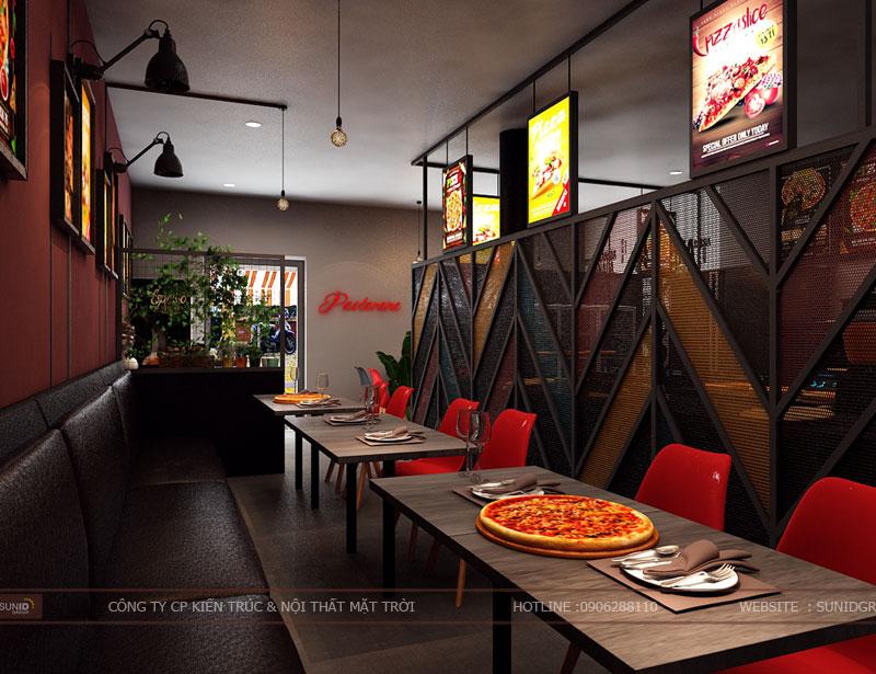 thiết kế thi công nội thất quán pizza pastana ảnh 5