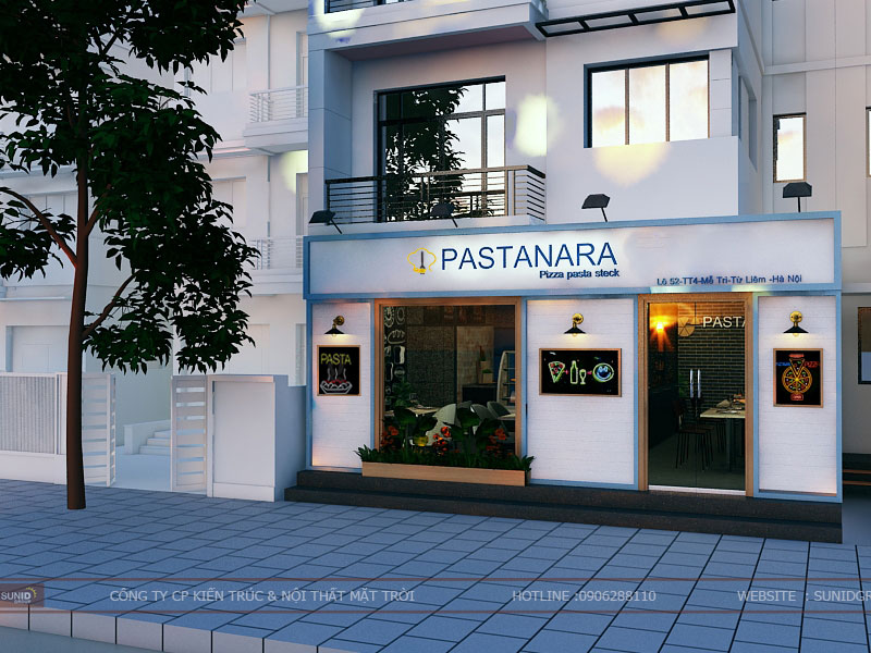 Thiết kế thi công nội thất quán pizza Pastanara