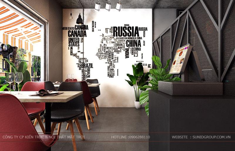 thiết kế thi công nội thất quán pizza pastana ảnh 7
