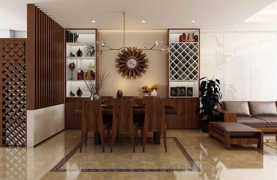 hoàn thiện nội thất nhà phố 2 tầng bằng gỗ ảnh 5