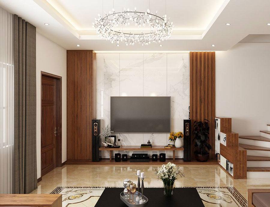 hoàn thiện nội thất nhà phố 2 tầng bằng gỗ ảnh 6