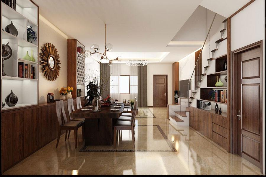 hoàn thiện nội thất nhà phố 2 tầng bằng gỗ ảnh 8