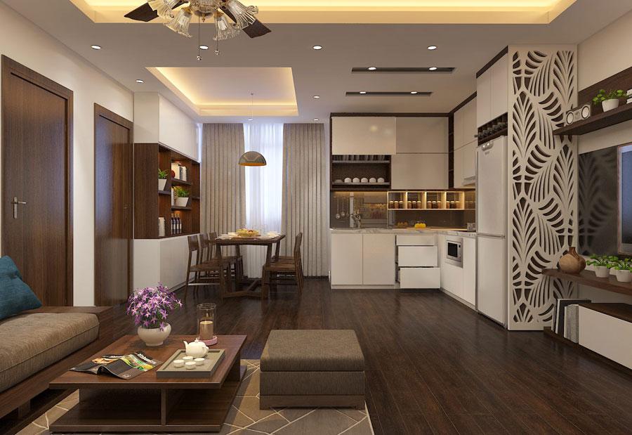 Thiết kế nội thất chung cư 65 m2 hiện đại ảnh 10