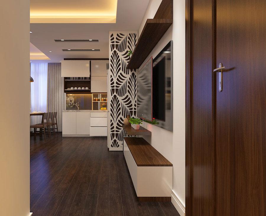 Thiết kế nội thất chung cư 65 m2 hiện đại ảnh 5