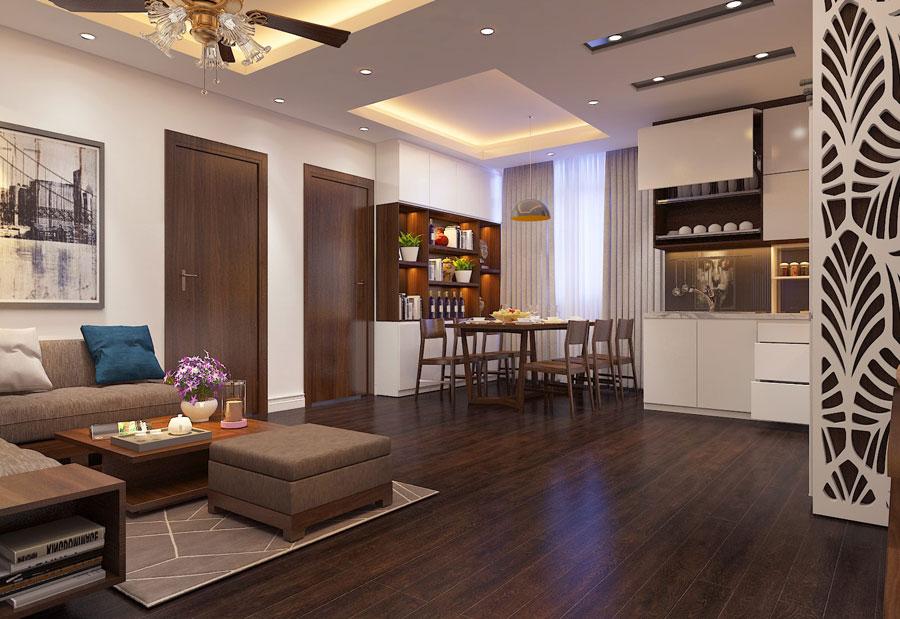Thiết kế nội thất chung cư 65 m2 hiện đại ảnh 8