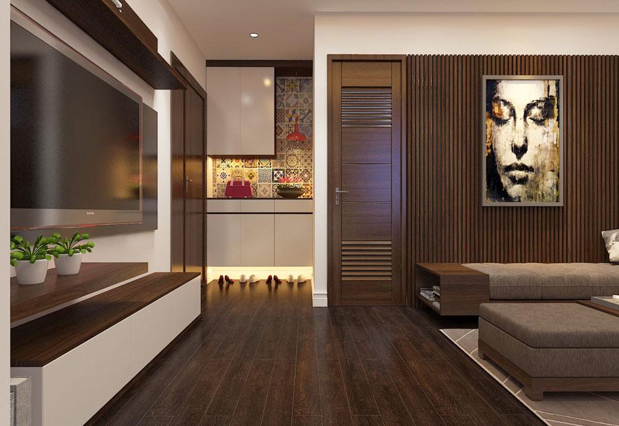 Thiết kế nội thất chung cư 65 m2 hiện đại ảnh 9