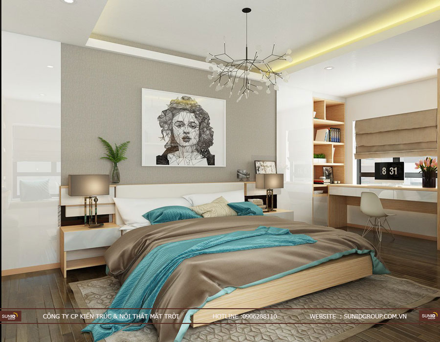 thiết kế nội thất chung cư T&T riveview 440 vĩnh hưng ảnh 12