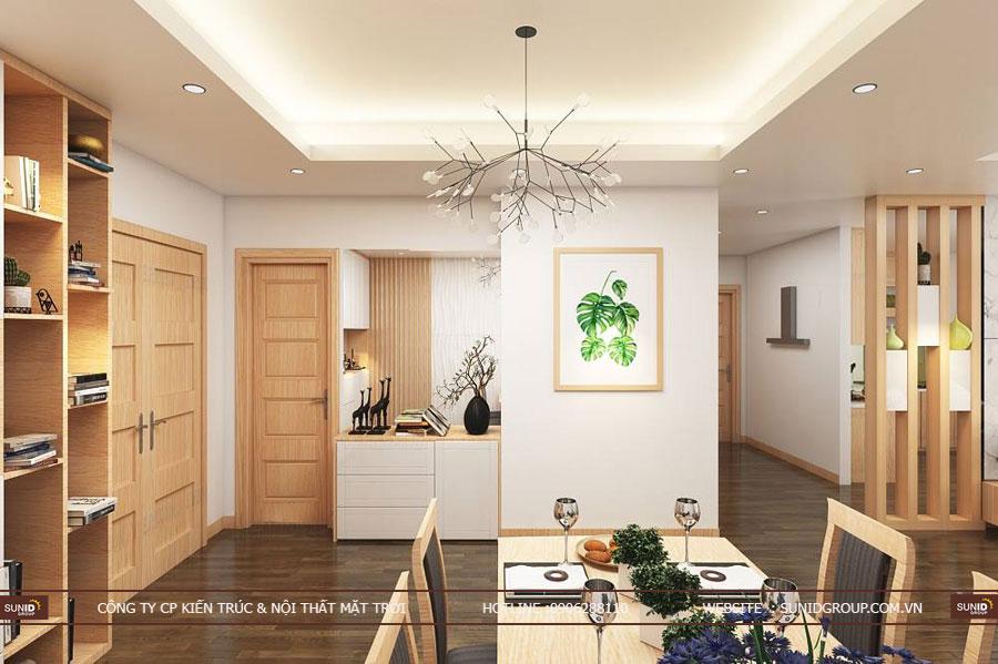 thiết kế nội thất chung cư T&T riveview 440 vĩnh hưng ảnh 2
