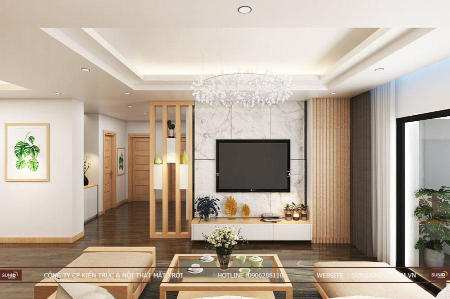 thiết kế nội thất chung cư T&T riveview 440 vĩnh hưng ảnh 5