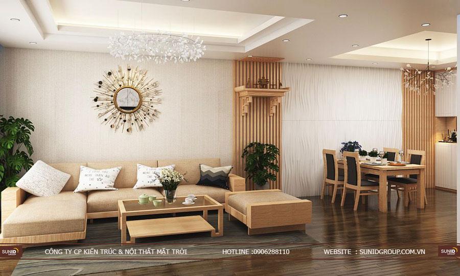 thiết kế nội thất chung cư T&T riveview 440 vĩnh hưng ảnh 9