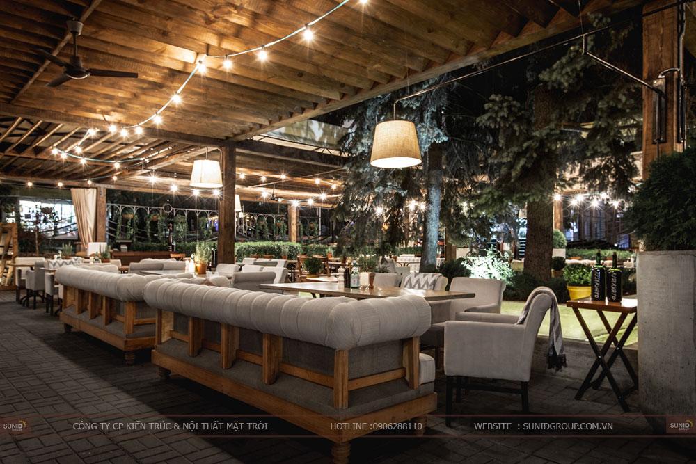 thiết kế nội thất nhà hàng lung linh sang trọng ảnh 1