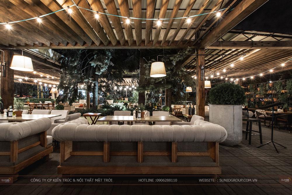 thiết kế nội thất nhà hàng lung linh sang trọng ảnh 11