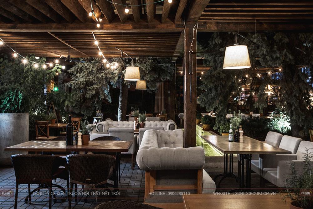 thiết kế nội thất nhà hàng lung linh sang trọng ảnh 2