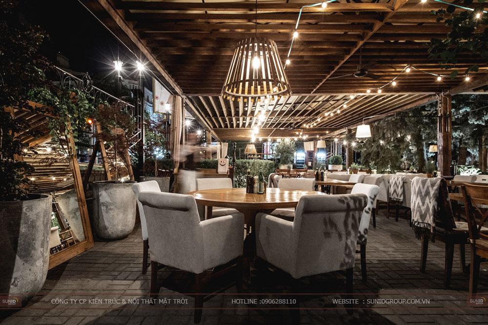 Thiết kế nội thất nhà hàng lung linh sang trọng