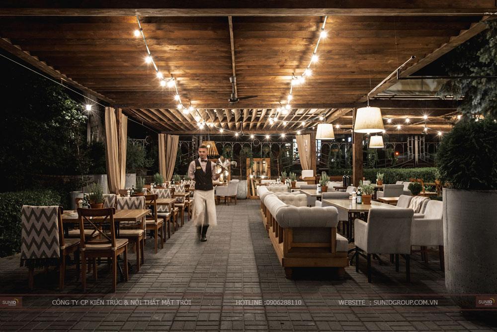 thiết kế nội thất nhà hàng lung linh sang trọng ảnh 4