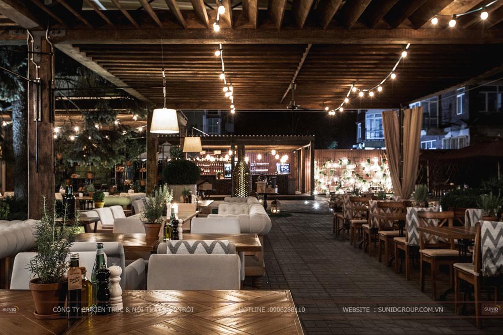 thiết kế nội thất nhà hàng lung linh sang trọng ảnh 5