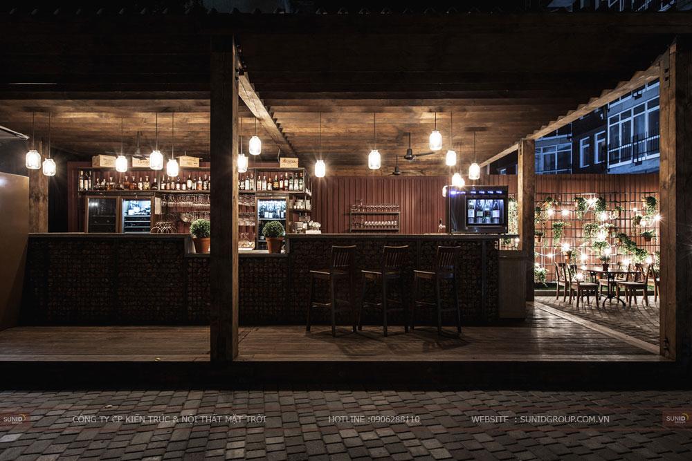 thiết kế nội thất nhà hàng lung linh sang trọng ảnh 9