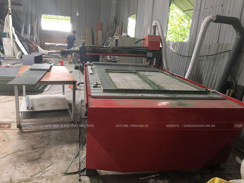 Máy móc trang thiết bị hiện đại tại xưởng sản xuất nội thất Sunid tại Hà Nội - View 02