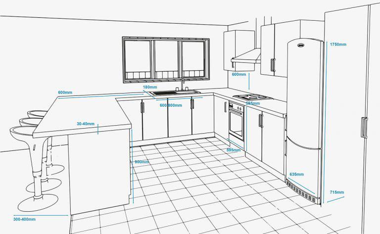 diện tích phòng bếp tiêu chuẩn bao nhiêu mét vuông