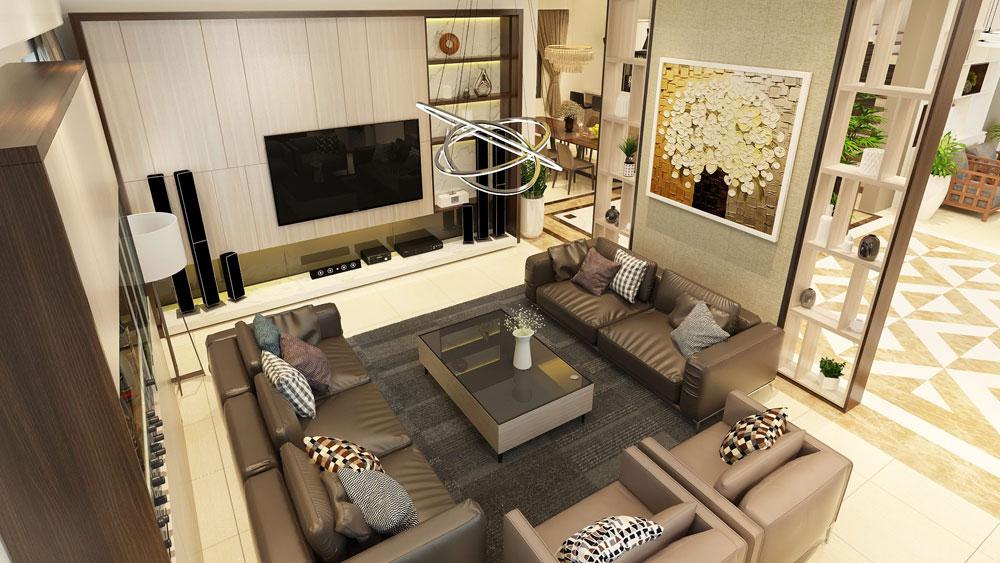 Thiết kế nội thất biệt thự hiện đại 500m2 tại Hải Dương