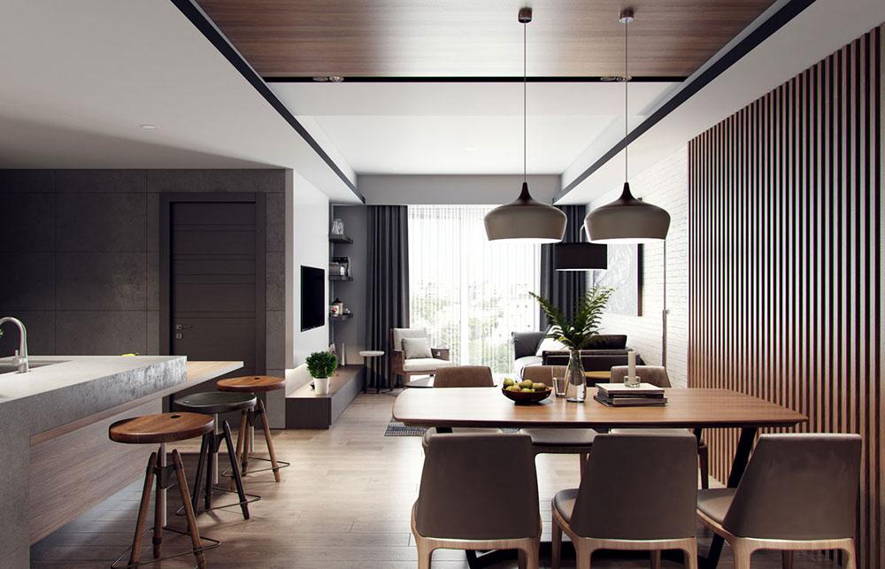 Thiết kế nội thất căn hộ chung cư 58m2 một phòng ngủ