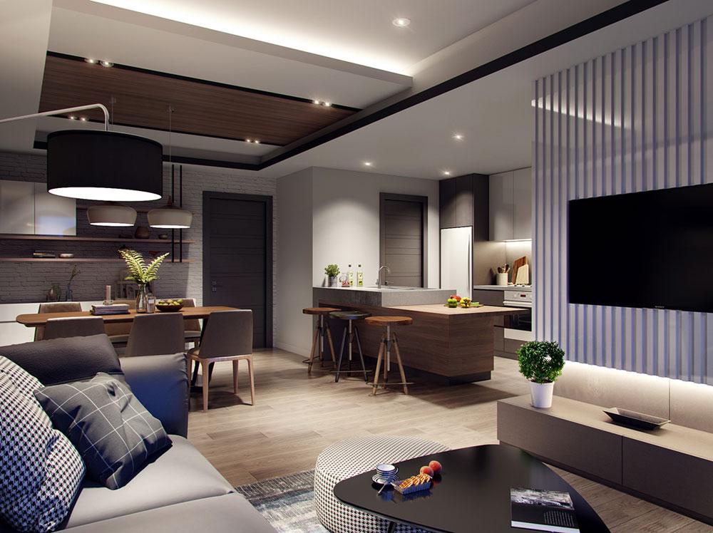 thiết kế nội thất chung cư 58m2 ảnh 2