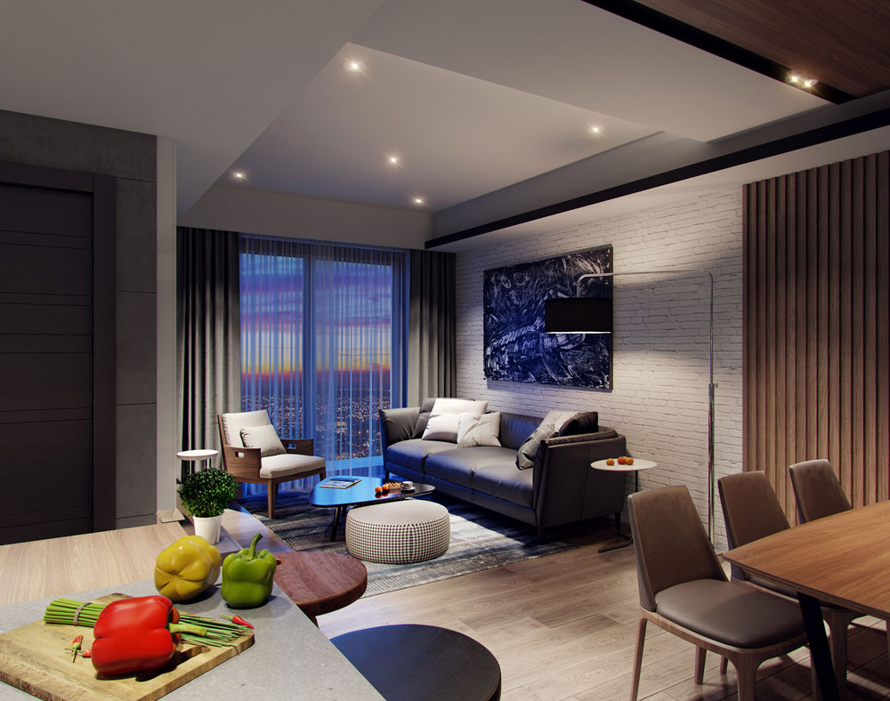 thiết kế nội thất chung cư 58m2 ảnh 7