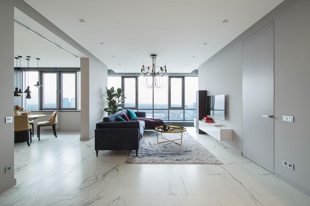 thiết kế nội thất chung cư 70 mét vuông hiện đại ảnh 9