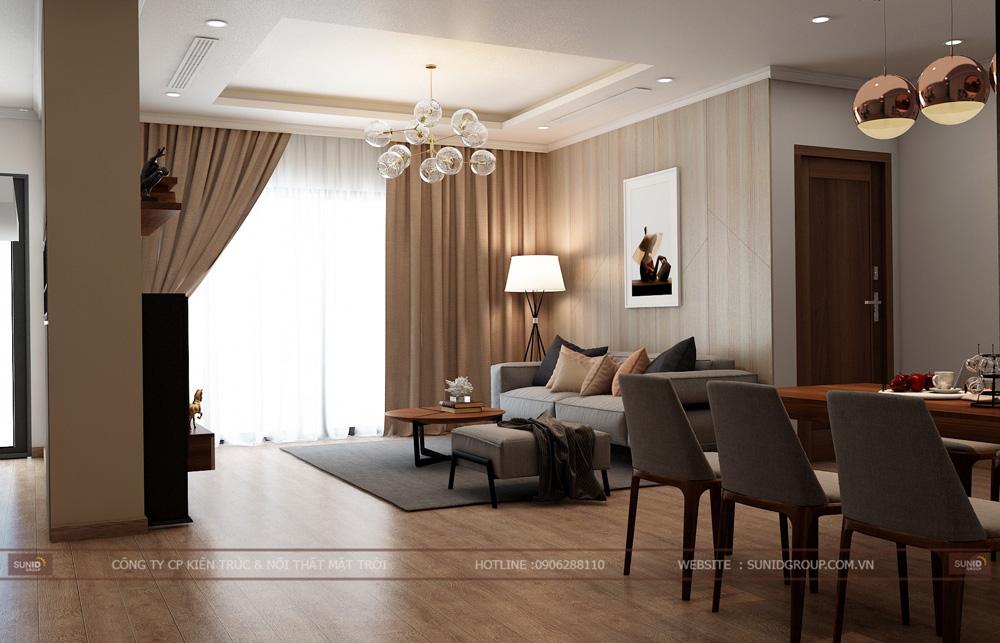 thiết kế nội thất chung cư 70m2 đẹp tại hà nội 1