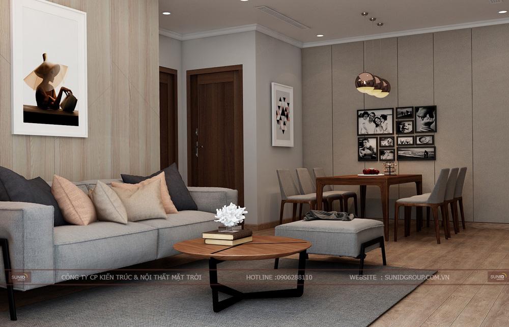 thiết kế nội thất chung cư 70m2 đẹp tại hà nội 2