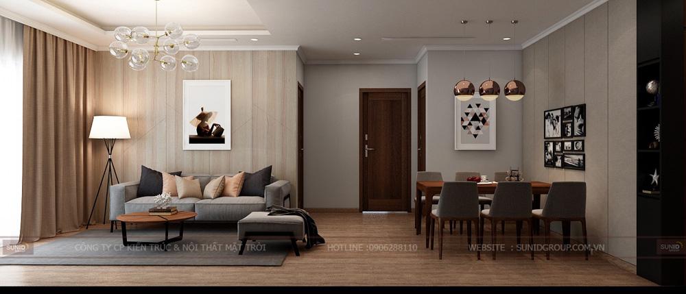 thiết kế nội thất chung cư 70m2 đẹp tại hà nội 4