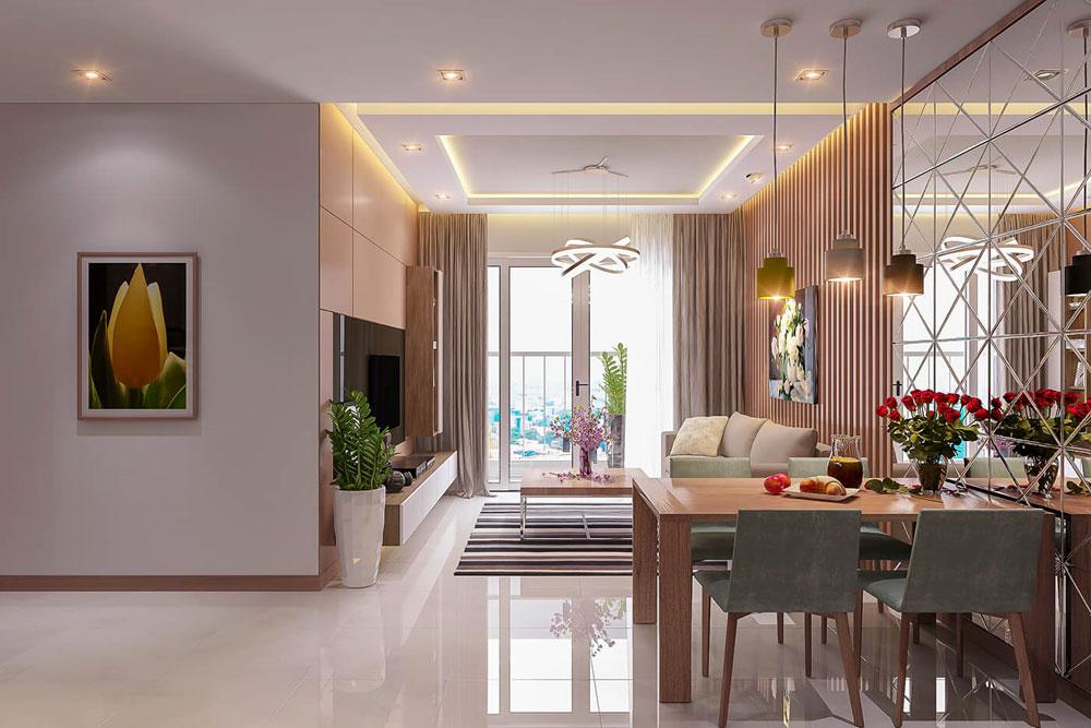 thiết kế nội thất chung cư 86m2 hai phòng ngủ ảnh 3