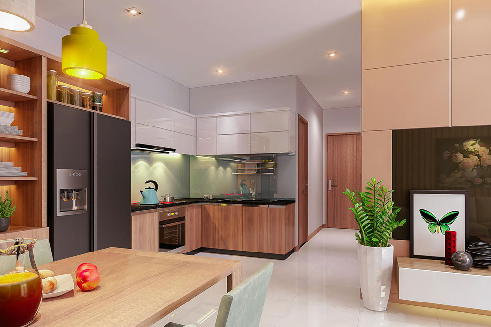 thiết kế nội thất chung cư 86m2 hai phòng ngủ ảnh 4