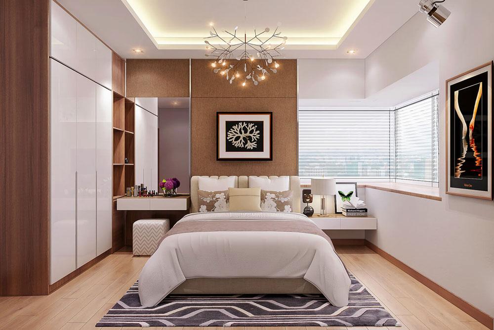 thiết kế nội thất chung cư 86m2 hai phòng ngủ ảnh 7