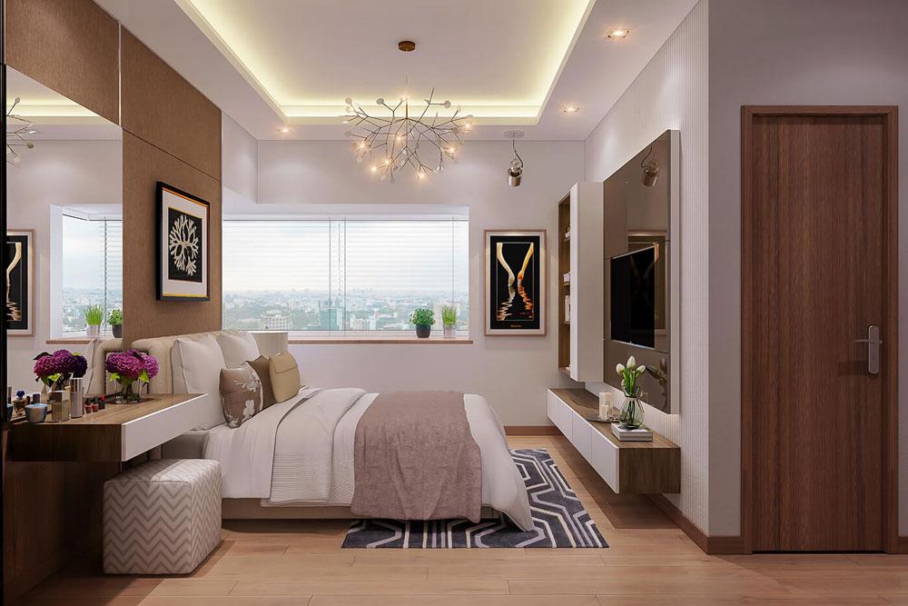 thiết kế nội thất chung cư 86m2 hai phòng ngủ ảnh 8