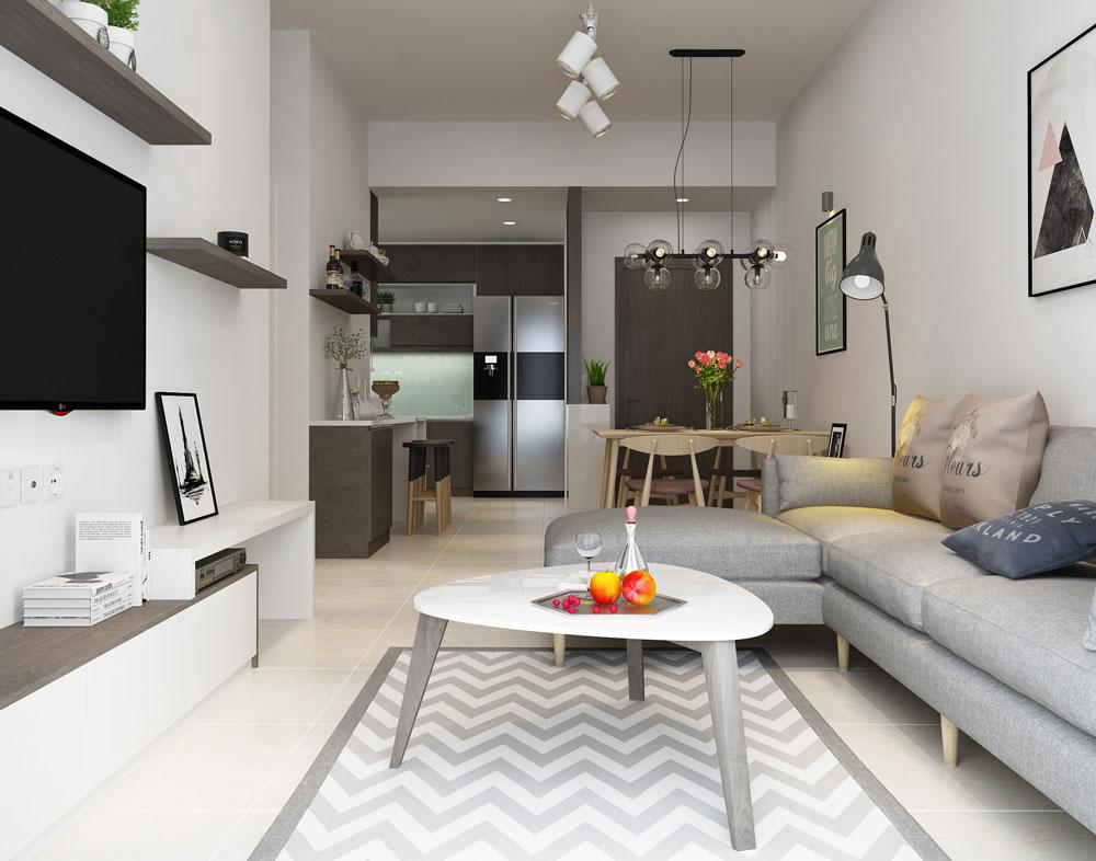 Thiết kế nội thất chung cư diện tích nhỏ nên dùng màu trắng