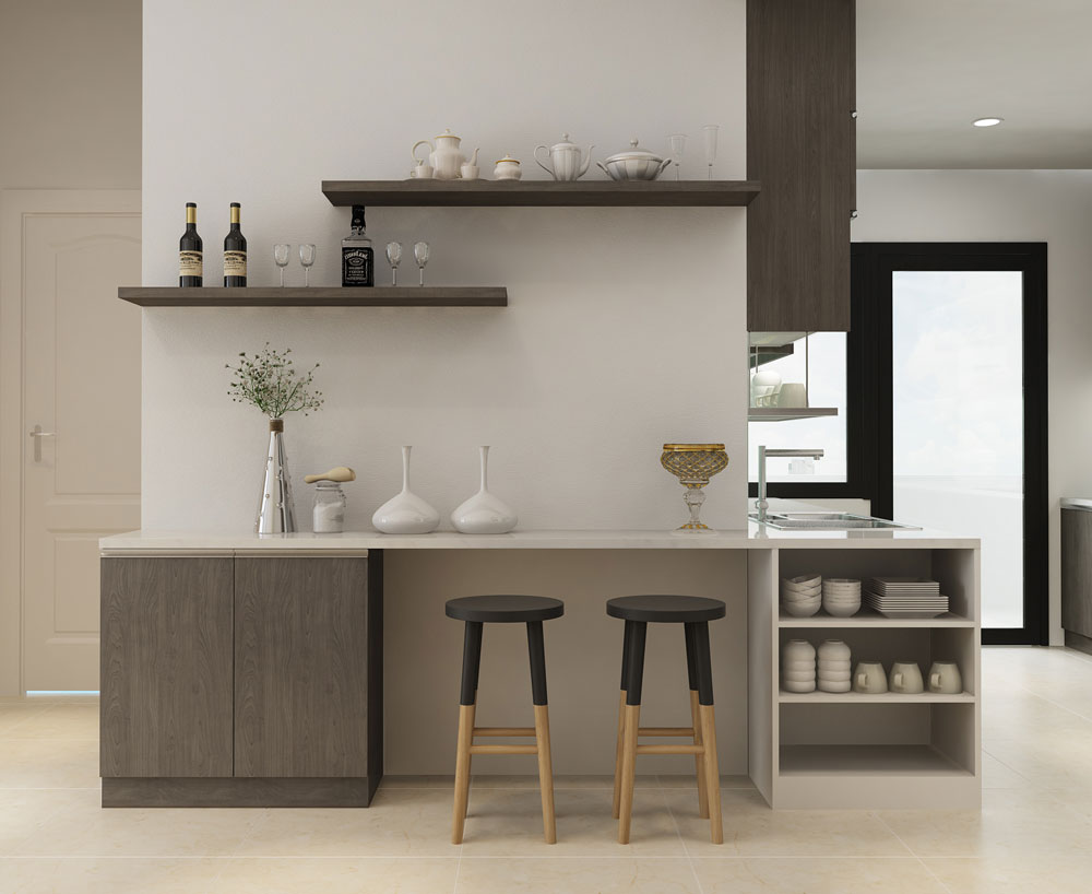 thiết kế nội thất chung cư tone màu trắng ảnh 3