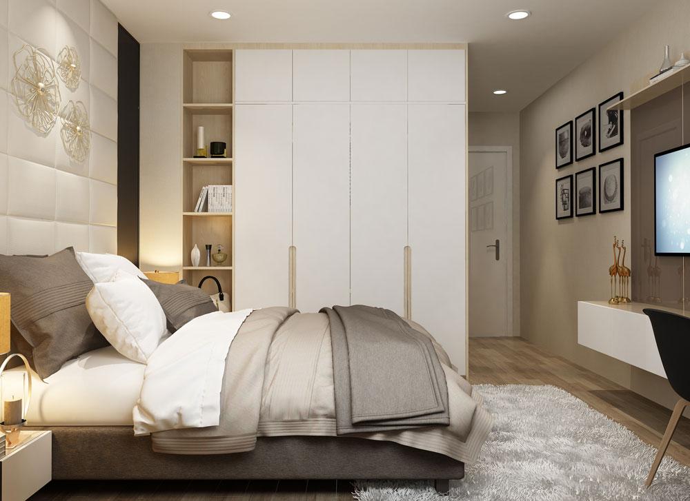 thiết kế nội thất chung cư tone màu trắng ảnh 6