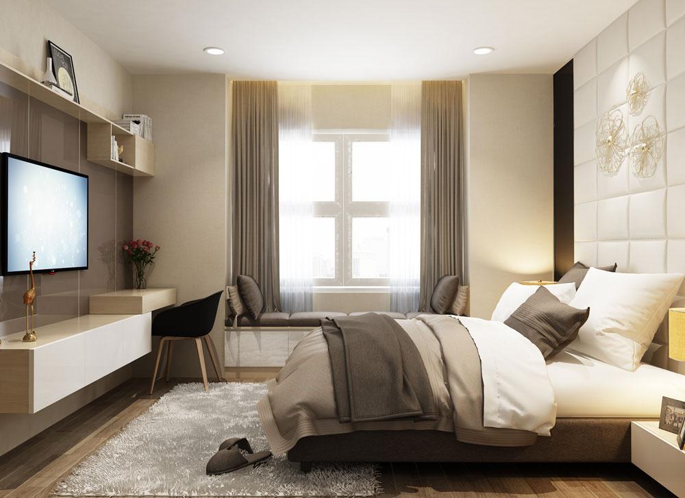 thiết kế nội thất chung cư tone màu trắng ảnh 7