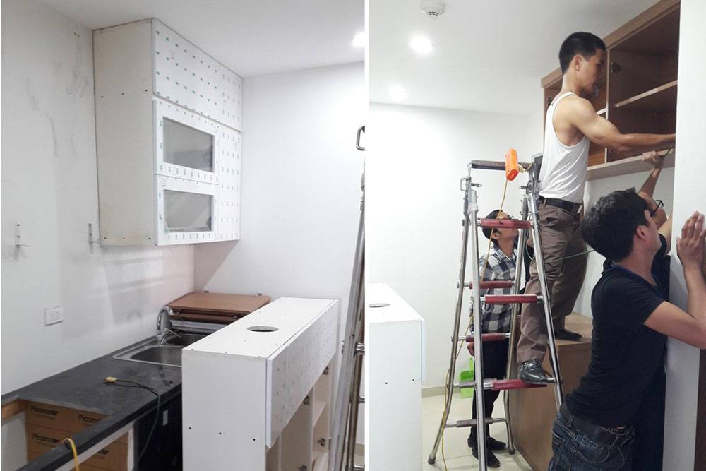lắp đặt nội thất chung cư thanh hà 12