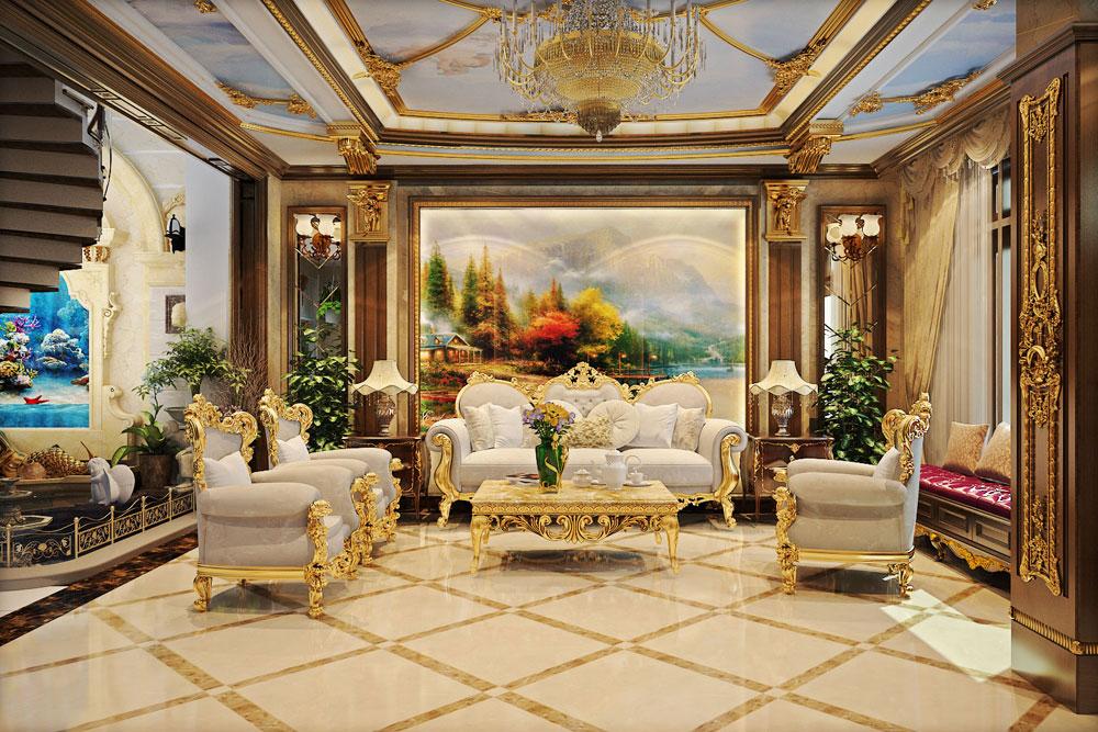 phòng khách cổ điển đẳng cấp