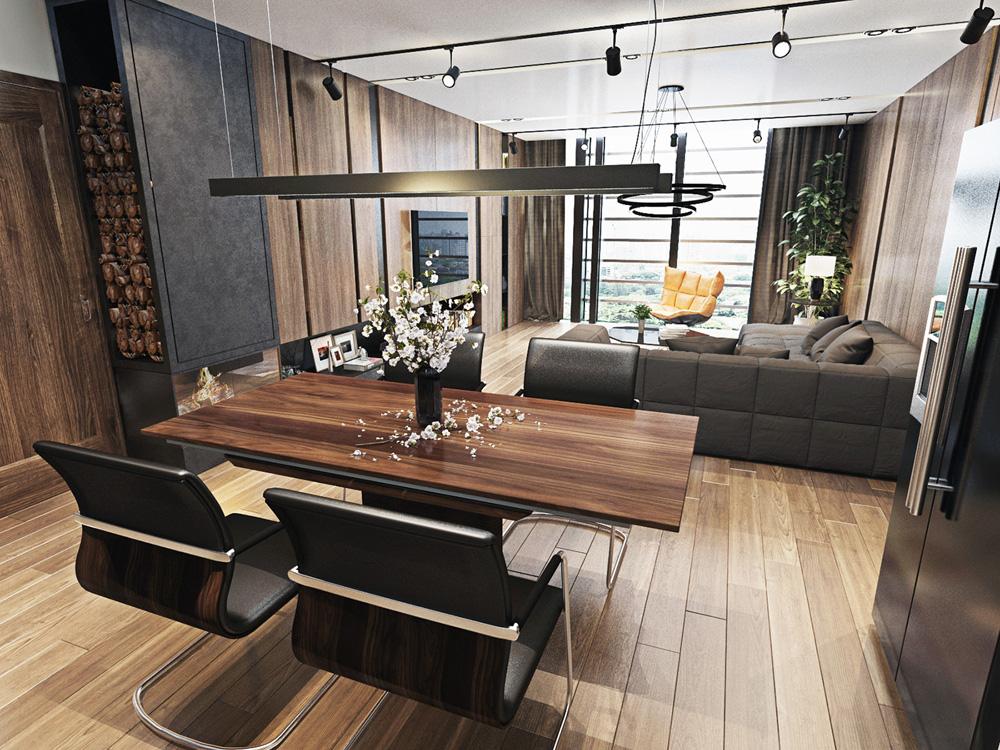 Thiết kế nội thất chung cư 67m2 đẹp cho vợ chồng trẻ